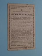 DP Lodewijk DE VOGHELAERE ( Zoon Van TACK ) Ruysselede 17 Feb 1814 - 26 Okt 1897 ( Zie Foto's ) ! - Obituary Notices