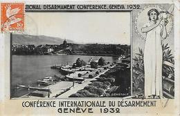 Suisse, GENEVE, Conférence Internationale Du Désarmement, Scan Recto Verso - GE Geneva