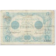 France, 5 Francs, Bleu, 1915, 1915-11-25, TB+, Fayette:2.33, KM:70 - 1871-1952 Circulated During XXth