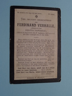 DP Ferdinand VERHALLE ( Coleta Vandaele ) Ruysselede 17 Sept 1815 - 8 Juli 1898 ( Zie Foto's ) ! - Obituary Notices
