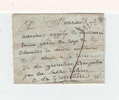 Sur Partie De Lettre Pour La Grossetière Par Les Sables D'Olonne Marque Linéaire Sauze. Taxe Manuscrite. (2406x) - Marcophilie (Lettres)