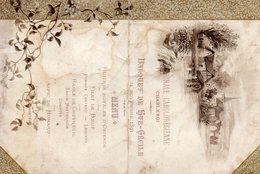 Charleroi:menu De La Chorale Carolorégienne,St Cécile 21 Novembre 1891 - Menus