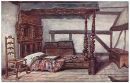 Bedroom: Anne Hathaway's Cottage, Stratford-on-Avon By W W Quatremain Unused - J Salmon No 816 - Illustrators & Photographers