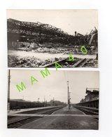CARTE PHOTO - 17 - SAINTES - MILITARIA - WWII - LE HALL DE LA GARE BOMBARDE LE 24/06/1944 + RECONSTRUCTION AVRIL 1947 - Saintes