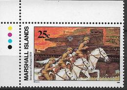 1989 Marshall Islands Mi. 244 **MNH Geschichte Des Zweiten Weltkrieges (I): Einmarsch In Polen - Marshall