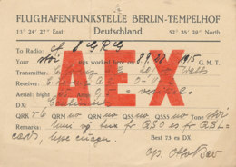 R 416 / CARTE RADIO AMATEURS  DEUTSCHLAND   BERLIN   A  E  X - Radio Amateur