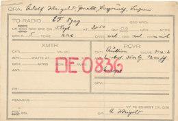 R 417 / CARTE RADIO AMATEURS  DEUTSCHLAND   BERLIN    D  E 0836 - Radio Amateur
