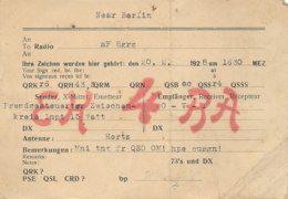 R 422 / CARTE RADIO AMATEURS   NEAR BERLIN   EK 4 B A - Radio Amateur