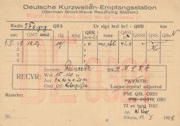 R 426 / CARTE RADIO AMATEURS   DEUTSCHE   D E  0 321 - Radio Amateur