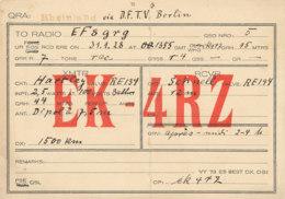 R 427 / CARTE RADIO AMATEURS   RHEINLAND  E K  4 R Z - Radio Amateur