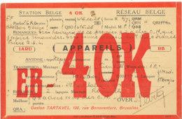 R 431 / CARTE RADIO AMATEURS  BELGIQUE   E  B 4 0 K - Radio Amateur