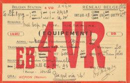 R 432 / CARTE RADIO AMATEURS  BELGIQUE   E  B  4 V R. - Radio Amateur