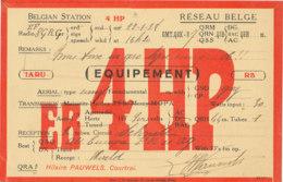 R 433 / CARTE RADIO AMATEURS  BELGIQUE   E  B  4  H P . - Radio Amateur