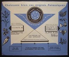 Saint Aubin Des Bois (calvados) Henri Laville Grains Engrais Pailles, Belle Enveloppe Illustrée Au Revers (potassiques) - Marcophilie (Lettres)