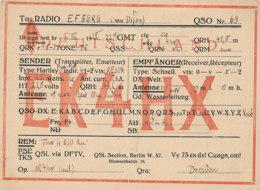R 439  / CARTE RADIO AMATEURS  DEUTSCHAND   E K 4 H X - Radio Amateur