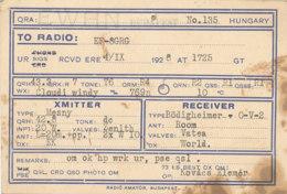 R 443 / CARTE RADIO AMATEURS      E W H N.  BUDAPEST  E F 8 G R G - Radio Amateur