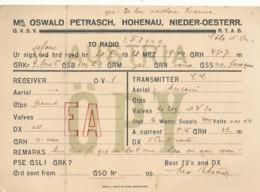 R 446 / CARTE RADIO AMATEURS     AUSTRIA   O P Y - Radio Amateur