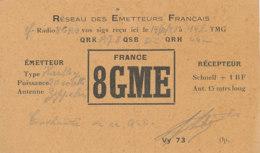 R 447 / CARTE RADIO AMATEURS    FRANCE  8 G M E - Radio Amateur