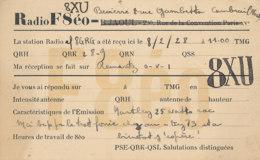 R 449 / CARTE RADIO AMATEURS    FRANCE  8 X U - Radio Amateur