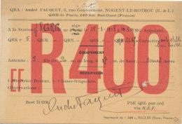 R 450 / CARTE RADIO AMATEURS      NOGENT LE ROTROU E F R 4 0 0 - Radio Amateur