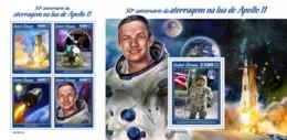 Z08 GB190501ab GUINEA BISSAU 2019 Apollo 11 Moon Landing MNH ** Postfrisch - Guinea-Bissau