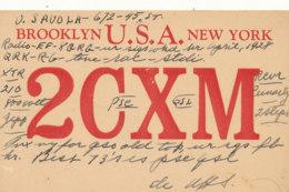 R 452 / CARTE RADIO AMATEURS      U S A NEW YORK    2 C X M - Radio Amateur