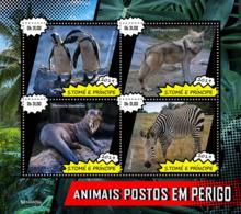 Z08 ST190409a Sao Tome And Principe 2019 Endangered Species MNH ** Postfrisch - São Tomé Und Príncipe