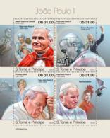 Z08 ST190413a Sao Tome And Principe 2019 John Paul II MNH ** Postfrisch - São Tomé Und Príncipe