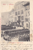 Biel - Canalgasse Mit Cadettencorps - 1901          (P-173-61020) - BE Berne