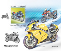 Z08 IMPERF ANG190120b ANGOLA 2019 Motorcycles MNH ** Postfrisch - Angola