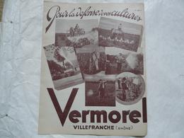 VIEUX PAPIERS 69 VILLEFRANCHE - CATALOGUE (8 Pages) - Pour La Défense De Vos Cultures - VERMOREL - Publicités