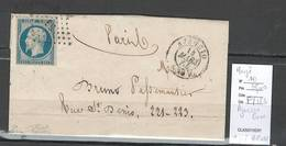 France -Lettre  De Ajaccio - Corse - PC 36 -yvert 10 Margé - 25 Cts Présidence - SIGNE BRUN  - 1854 - 1849-1876: Période Classique