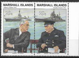 1991 Marshall Islands Mi. 370-1 **MNH Geschichte Des Zweiten Weltkrieges :  Die Atlantikcharta - Marshall