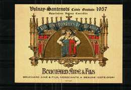 Etiquette - VOLNAY-SANTENOTS 1957 Vins Des Hospices De Beaune - BOUCHARD AINE & Fils  - Négociants à BEAUNE - Rouges