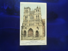 Sd AMIENS SOMME CATHEDRALE NOTRE DAME FACADE OUEST COLORISEE BON ETAT - Gift Cards