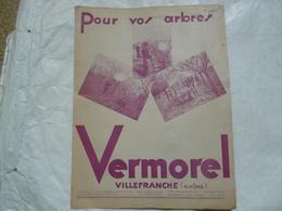 VIEUX PAPIERS 69 VILLEFRANCHE - CATALOGUE (6 Pages) - Pour Vos Arbres - VERMOREL - Publicités