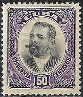1907 Major-General Antonio Maceo - 50c - Black And Violet MNG - Kuba