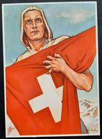 """Schweiz Suisse 1941: Bundesfeier-PK No. 72 (Pro Patria CPI) """"Eidgenosse"""" Ungelaufen Non Circulé (SBK CHF 15.00) - Cartas"""