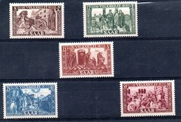 Sarre  / N 278 à 282   / NEUFS** / Côte 80 € - 1947-56 Allierte Besetzung