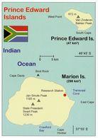 1 Map Of Prince Edward And Marion Island * 1 Landkarte Von Den Inseln Prince Edward Und Marion Zu Südafrika * - Landkarten
