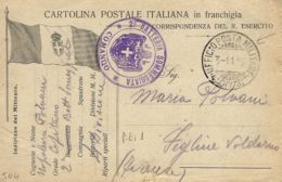 FRANCHIGIA POSTA MILITARE 4 DIVISIONE 1915 S. MARTINO GUISCA X FIGLINE VALDARNO - Military Mail (PM)