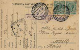 FRANCHIGIA POSTA MILITARE 1 DIVISIONE CAVALLERIA 1916 AQUILEIA X ORMELLE - 1900-44 Vittorio Emanuele III