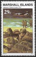 1991 Marshall Islands Mi. 390 **MNH Geschichte Des Zweiten Weltkrieges :  Besetzung Guams Durch Die Japanischen Truppen. - Marshall