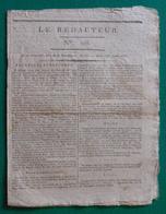 """Journal """"Le Rédacteur"""" - N° 118 - Lundi 11 Avril 1796 - Kranten"""