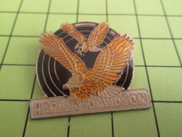 912b Pins Pin's / Rare & TB état / THEME : MOTOS / 2 AIGLES EN VOL HARLEY-DAVIDSON - Motos