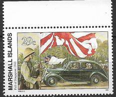 1991 Marshall Islands Mi. 391 **MNH Geschichte Des Zweiten Weltkrieges :  Besetzung Singapurs Durch Die Japanischen Trup - Marshall