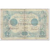 France, 5 Francs, Bleu, 1914, 1914-04-11, B+, Fayette:2.22, KM:70 - 1871-1952 Circulated During XXth