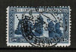 ITALY  Scott # 182 F-VF USED PERFIN  (Stamp Scan # 516) - 1900-44 Vittorio Emanuele III