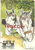 Fiera Cavalli, Transito Del Postale Siena Verona, Vignola 4.11, Modena 5.11, Concordia 6.11.1988, Illust. Nani Tedeschi. - Altri