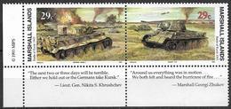 1993 Marshall Islands Mi. 471-2 **MNH Geschichte Des Zweiten Weltkrieges :   Die Schlacht Von Kursk - Marshall